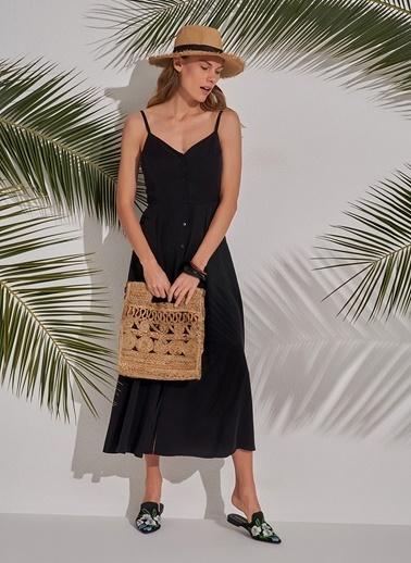 Morhipo Beach Düğmeli Elbise Siyah